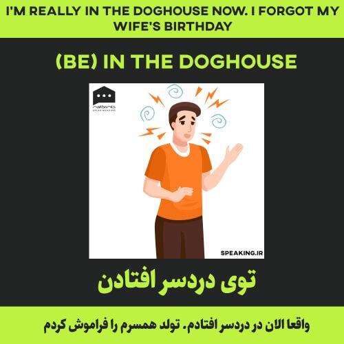 اصطلاح انگلیسی - be) in the doghouse)