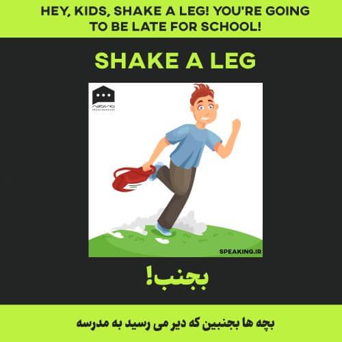 اصطلاح انگلیسی - Shake a leg