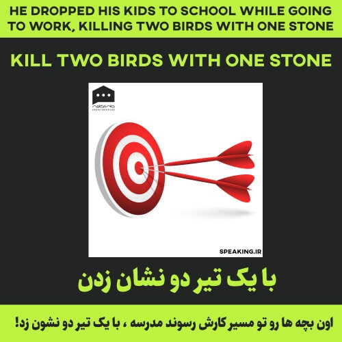 اصطلاح انگلیسی - Kill two birds with one stone