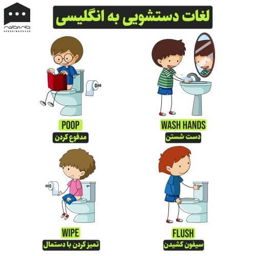 لغات انگلیسی - دستشویی