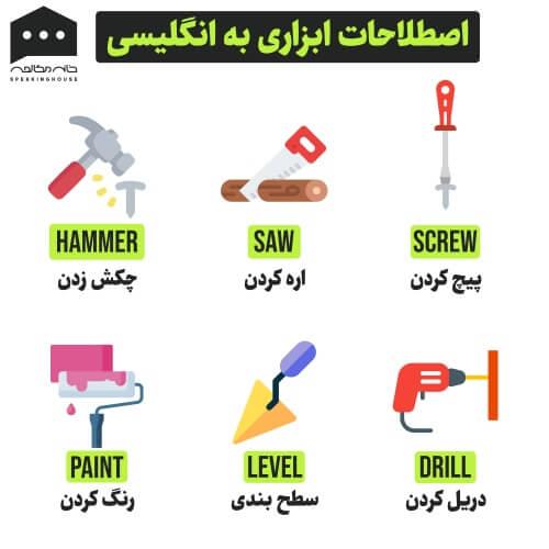 لغات انگلیسی - ابزار ها 2