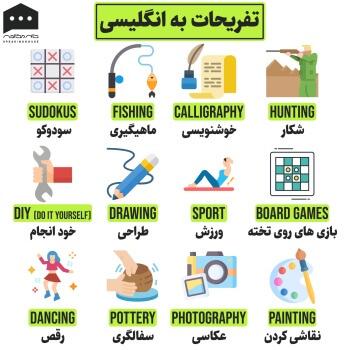 لغات انگلیسی - تفریحات