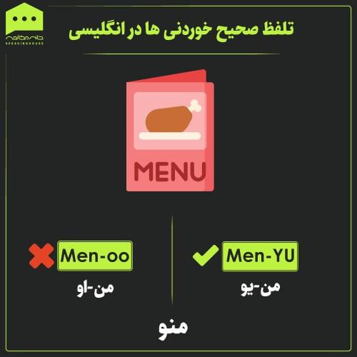 تلفظ لغات - تلفظ صحیح خوردنی ها