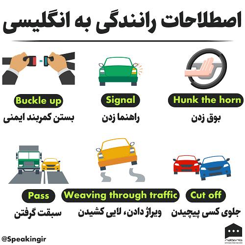اصطلاحات رانندگی به انگلیسی