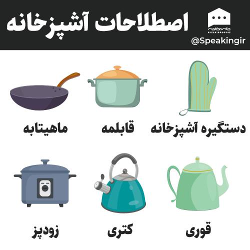 اصطلاحات آشپزخانه به انگلیسی