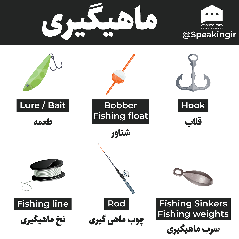 کلمات ماهیگیری به انگلیسی