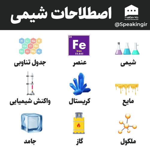 اصطلاحات شیمی به انگلیسی