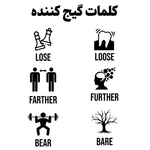 کلمات گیج کننده انگلیسی