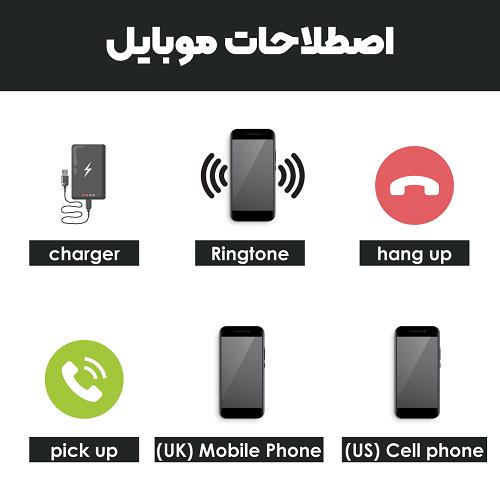 اصطلاحات موبایل به انگلیسی