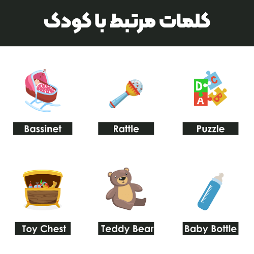 کلمات مرتبط با کودک به انگلیسی