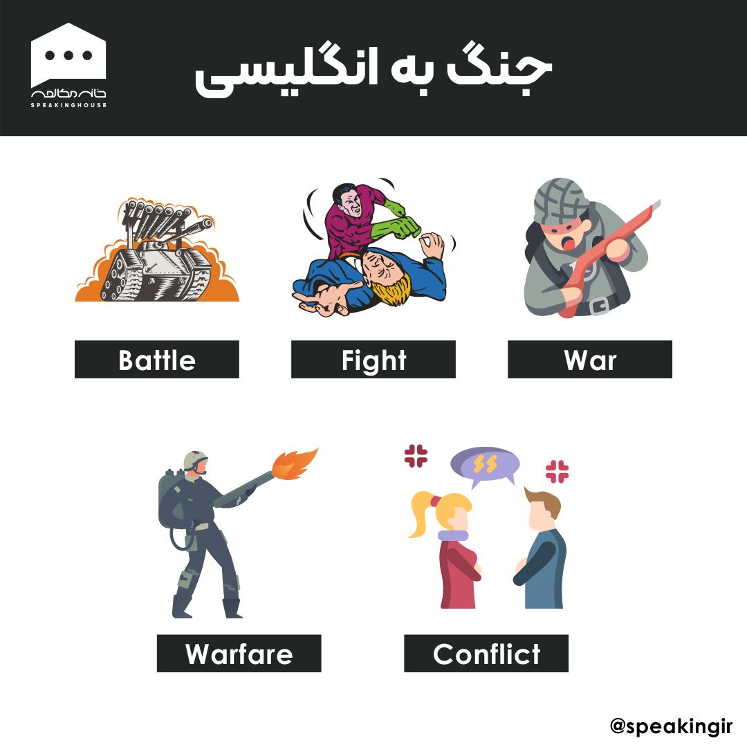 جنگ به انگلیسی