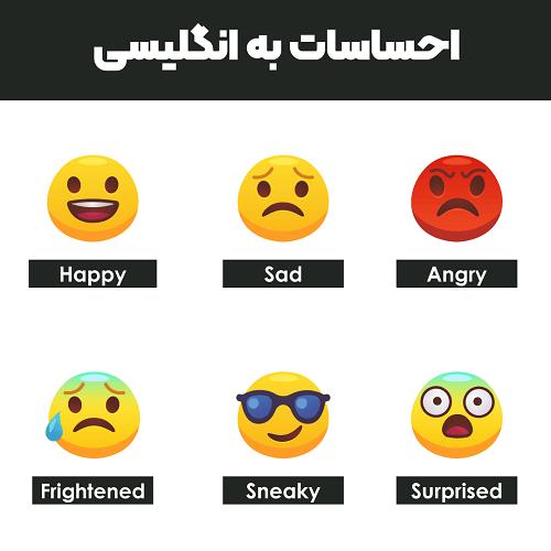 احساسات به انگلیسی