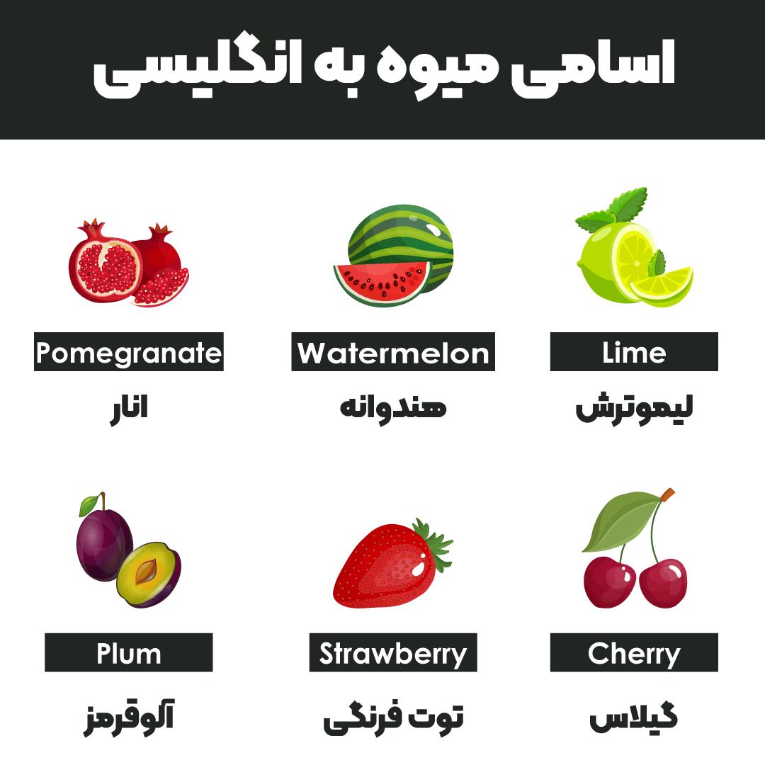 اسامی میوه به انگلیسی