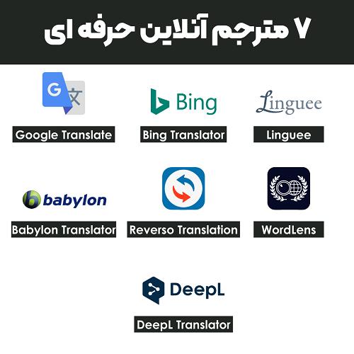 7 مترجم آنلاین حرفه ای