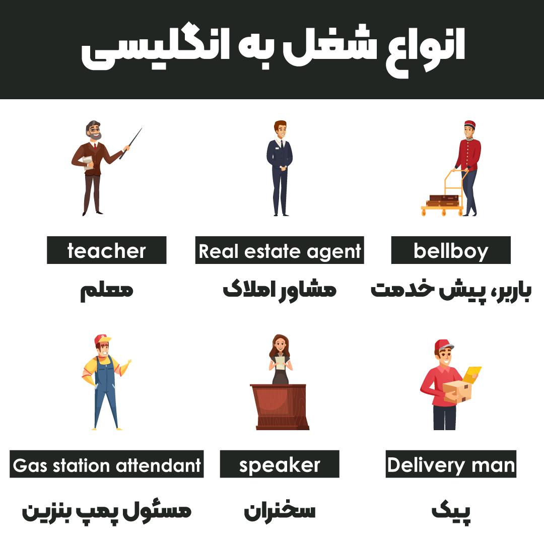 انواع شغل به انگلیسی